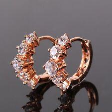 Lovely promising white sapphire 18K rose gold filled HOT Huggie earring