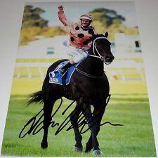 LUKE NOLEN HORSE RACING PERSONALLY HAND SIGNED 12X8 PHOTO  BLACK CAVIAR