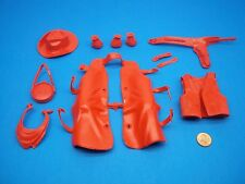Marx (NEW RED COLOR ACCESSORY LOT) Johnny West Best Of The West Horse Custer