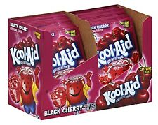 20 BLACK CHERRY +1 MYSTERY FLAVOR Kool Aid Drink Mix dye Vitamin C popsicle fun