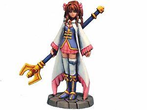Aurora Model Game Miniatures 'Mage' Female Metal Figure Sorcerer Girl FE-026