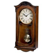 Cranbrook Wall Clock by Bulova, Walnut