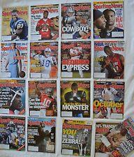 SPORTING NEWS MAGAZINE LOT 17 BASEBALL FOOTBALL BASKETBALL, 2006
