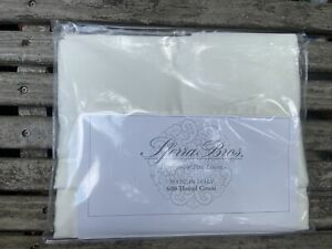 SFERRA Allegro Hemstitched 600TC Queen Standard 2 Pillowcases Ivory Italian New