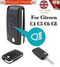 For CITROEN C4 GRAND PICASSO 3 Button (Light symbol) Flip Remote Key Fob Case