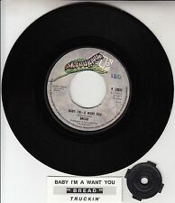 "BREAD Baby I'm A Want You 7"" 45 rpm vinyl record + juke box title strip"