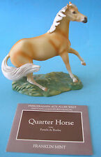 Franklin Comme neuf The great Horses of the World porcelaine personnages 1989 quarterhorse