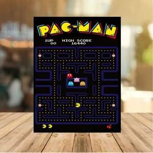 Pac Man classic 80s METAL WALL sign PLAQUE retro gaming man cave games room bar