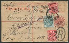 New South Wales: 1901 (Jan) use of 3d Registered Envelope