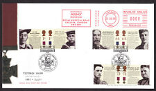 2006 VICTORIA CROSS SET OF 6 ON FDC WITH SPECIAL CHELSEA CANCEL AND METER MARK