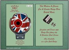 Classic car badge & bar clip mod Coquelicot Union Jack-ULMA Vigano B1.2801