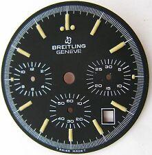 Vintage Dial Breitling black color 3 registers & date at 4:30 Hr.