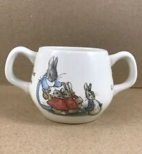 Wedgewood Collectible  Beatrice Potter Peter Rabbit Two Handled Childs Cup Mug