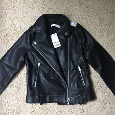 Mango Womens Faux Leather Biker Jacket