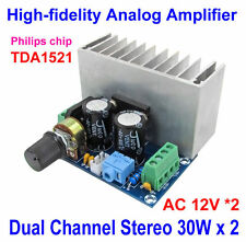 TDA1521 30W+30W HiFi Pure Class A Stereo Audio Power Amplifier Board Analog Amp