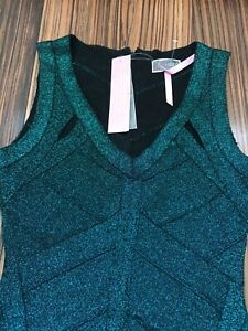 Green Glitter Bandage Body Lipsy Brand New Dress, Size 12