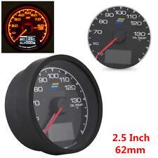 7 Color LED Digital Display Voltage Meter Car Oil Temp Gauge 2.5 Inch (62mm)