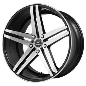 "20"" Inch Verde V39 Parallax 20X9 5x114.3 +20mm Black/Machined Wheel Rim"