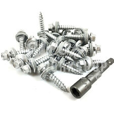 1000 of 25mm HEX TEK CORRUGATED ROOFING / CLADDING SCREW - 16mm BONDED WASHER