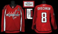 2009 Alex Ovechkin Game Used Signed Washington Capitals Jersey With MeiGray COA