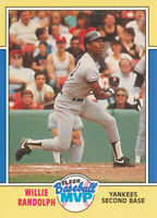 Willie Randolph 1988 Fleer Baseball MVP #28 New York Yankees baseball card