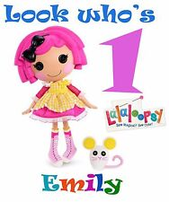 "Lalaloopsy Iron-On for a White T-shirt Personalized NAME & AGE 7""x10"""