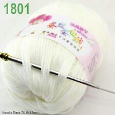 Sale new 1ball 50g Baby Cashmere Silk Wool Children hand knitting Yarn white 01