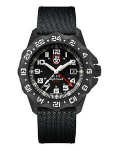 Luminox F-117 NightHawk GMT CARBONOX Black dial Fabric Strap Men Watch XA.6441