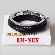 Leica M LM L/M Lens to Sony NEX E mount Adapter NEX7 NEX5N NEX5 NEX3 NEX6 LM-NEX
