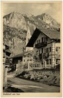 Nußdorf am Inn Bayern Postkarte 1957 gelaufen Straßenpartie im Dorf Haus Berge