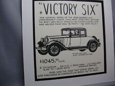 1928 Dodge Victory Six  Auto Pen Ink Hand Drawn  Poster Automotive Museum