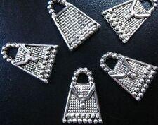 100 pcs Tibetan Silver beaded handbag charms FC208