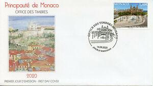 Monaco Architecture Stamps 2020 FDC New Place du Casino Buildings Trees 1v Set