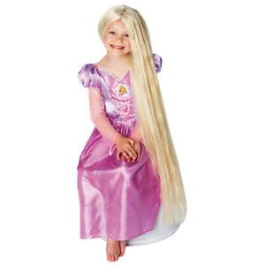 Nachtleuchtende Rapunzel Kinderperücke Langhaarperücke blond Märchenperücke