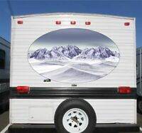 "Rv Camper Trailer Travel Vacation Mountains Graphics Decals Stickers  50"" wide"