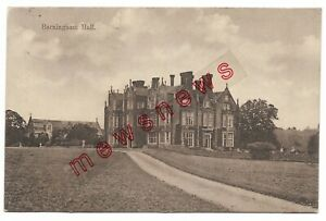 Barningham Hall, Matlaske near Holt & Sheringham Norfolk 1909 Postcard