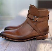 Men's 3DM Lifestyle leather dress boots sz UK 8 US8.5 2 tone Brown TDM