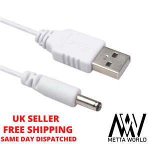 USB-A to 3.5mm 5V, 12V DC Jack Male Supply Charger Power Cable Adaptor Lead UK