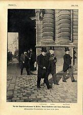 Vor Deputiertenkammer in Paris Henri Rochefort J.H. Montégut Daniel Cloutier1901