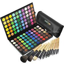 "120 Color Eye shadow Palette + 12x ""Woodland"" Makeup Brush Set (89B_306K)"
