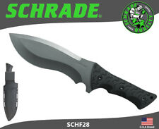 Schrade Fixed Knife Full Tang Little Ricky 8Cr13MoV TPE Handle Sheath SCHF28