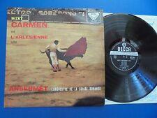 SXL 2037  Bizet Carmen and L'Arlesienne Suites Ansermet wbg ed.1 Ex