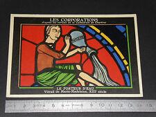 CARTE CHROMO ASPIRINE 1950 VITRAIL CATHEDRALE CHARTRES CORPORATIONS PORTEUR EAU