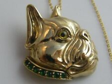 18k GOLD PLATED FRENCH BULLDOG ON SILVER GOLD PLATED CHAIN