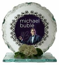 Michael Bublé Cut Glass Photo Plaque Collectable Gift for The Fan