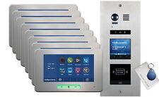 VOSPER 8 Apartments Proximity Reader ALECTO Monitors
