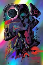 Tom Whalen – Guardians of the Galaxy Foil Variant Poster Print Mondo Artist