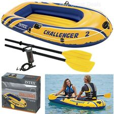 2 Person Small Inflatable Boat Set Rubber Raft Boating Float Dinghy Oars Air NEW