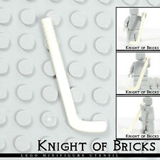 Lego Minifigure WHITE Utensil Hockey Stick Sports Play
