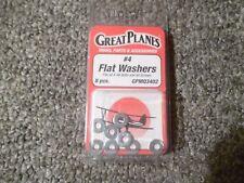 GreatPlanes 8 Pcs Flat Washers